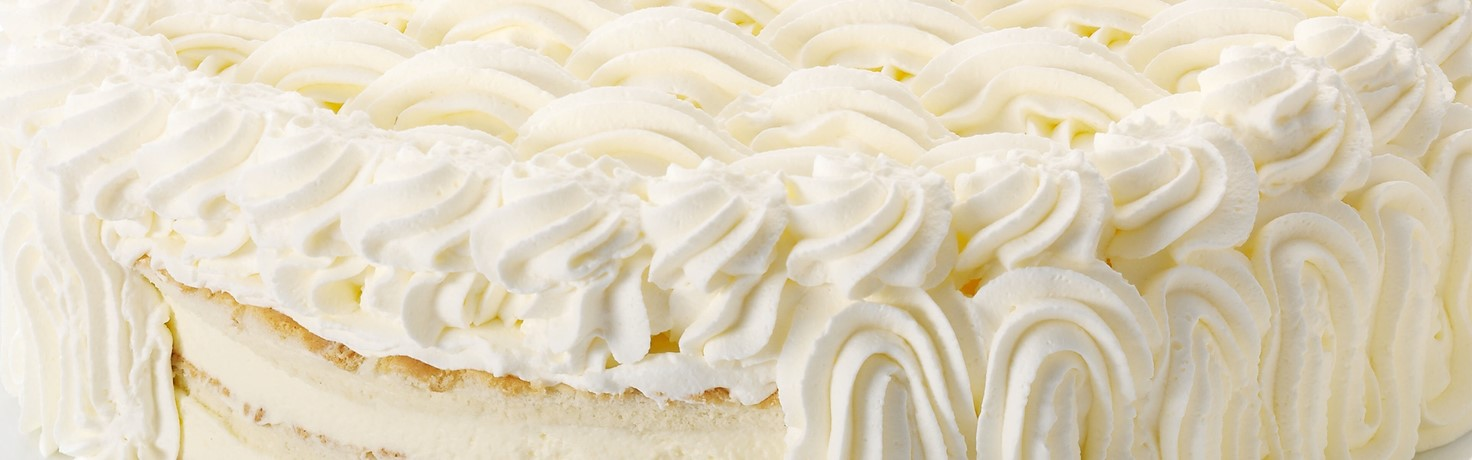 Layer Cake Decorated With Non Dairy Whipping Cream