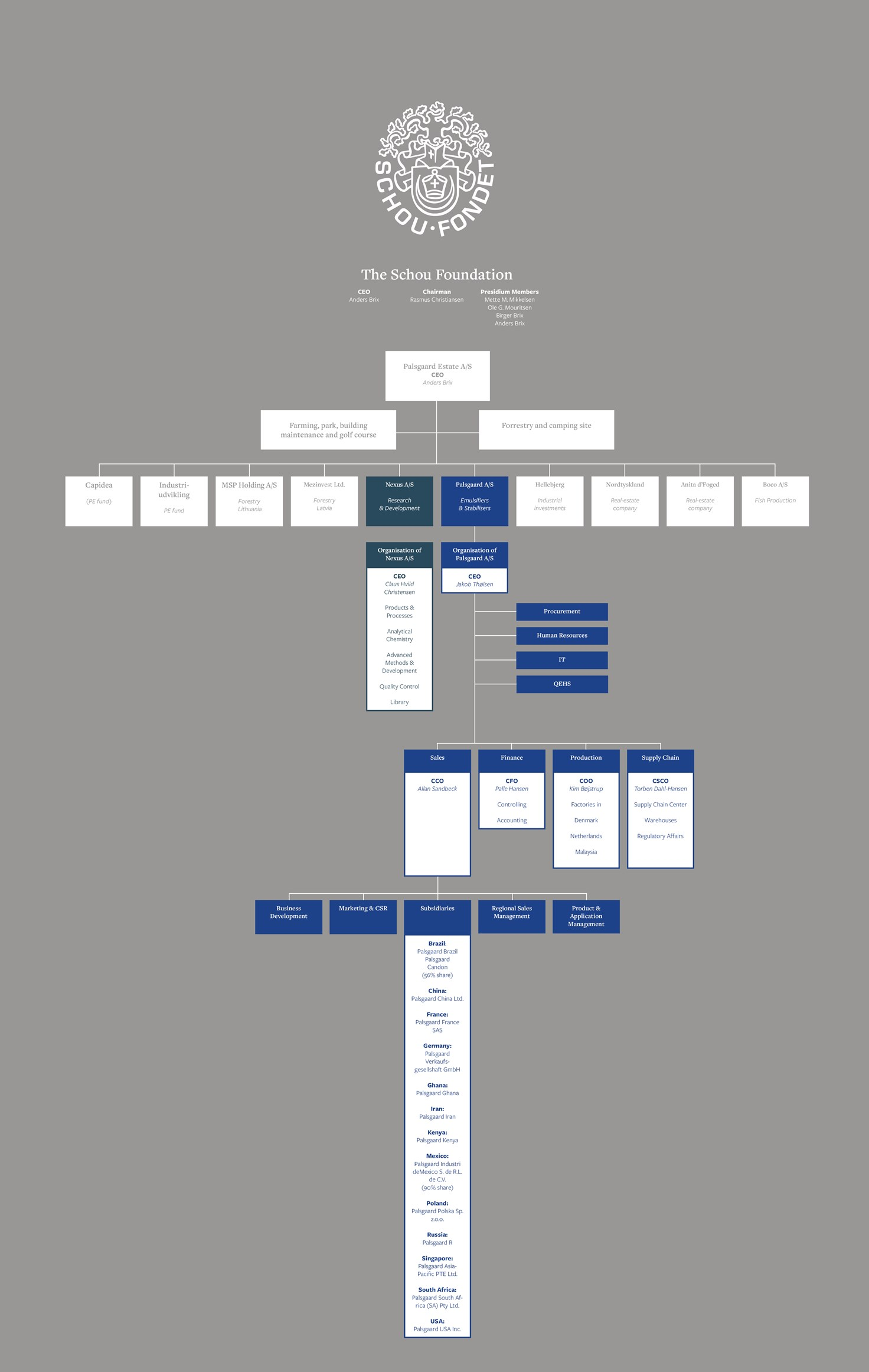 Schou Foundation Organisational Chart March 2019 Approved