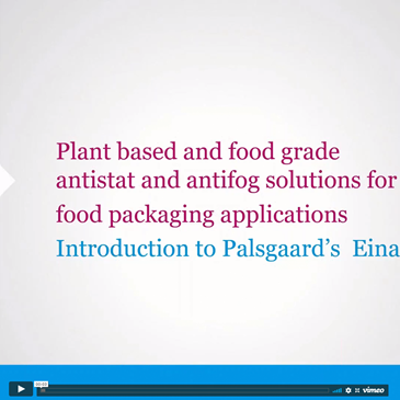 Webinar Introduction To Einar® Plant Based And Food Grade Polymer Additives